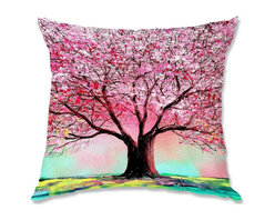 DiaNoche Designs - Pillow Woven Poplin by AjabyAnn Story of the Tree lxxiv - Toss this decorative pillow on any bed, sofa or chair, and add personality to your chic and stylish decor. Lay your head against your new art and relax! Made of woven Poly-Poplin.  Includes a cushy supportive pillow insert, zipped inside. Dye Sublimation printing adheres the ink to the material for long life and durability. Double Sided Print, Machine Washable, Product may vary slightly from image.