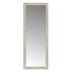"""Posters 2 Prints, LLC - 17"""" x 45"""" Libretto Antique Silver Custom Framed Mirror - 17"""" x 45"""" Custom Framed Mirror made by Posters 2 Prints. Standard glass with unrivaled selection of crafted mirror frames.  Protected with category II safety backing to keep glass fragments together should the mirror be accidentally broken.  Safe arrival guaranteed.  Made in the United States of America"""