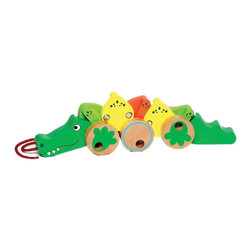 The Original Toy Company - The Original Toy Company Kids Children Play My Pet Alligator - This classic designed pull toy has constant moving action, constructed of hardwood with metal linkage, each part of the body moves independently from the other, providing hours of imaginative play. Retail Packaging.