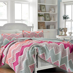Laura Ashley 'Ainsley' Cotton Quilt and Optional Sham Separates -