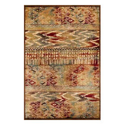 """KAS - Kas Versailles 8537 Coffee Tropez Rug - 2 ft 2 in x 6 ft 11 in Runner - The Versailles collection includes power loomed, 100% Viscose, 1/8"""" pile height rugs. They come with a special coloration with an abrash effect. These are made in Belgium, and they come in traditional and modern designs."""