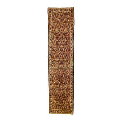 eSaleRugs - 3' 3 x 13' 3 Hossainabad Persian Runner Rug - SKU: 110891544 - Hand Knotted Hossainabad rug. Made of 100% Wool. 20-25 Years.