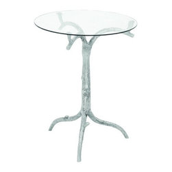 "Benzara - Contemporary Aluminum Glass Table with Corrosion Resistant Surface - Contemporary Aluminum Glass Table with Corrosion Resistant Surface. If you are a connoisseur of modern, then this artful and artistic Aluminum Glass Table is an excellent addition to your home interiors. It comes with a dimension of 254"" H x 20"" W x 20"" D."