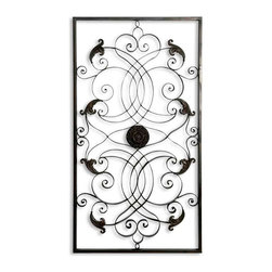 Uttermost - Uttermost Effie Rectangle Metal Wall Art 07527 - This decorative wall art is made of hand forged and hand embossed metal. Finish is distressed, aged black with chestnut brown undertones.