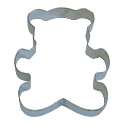 RM - Teddy Bear 5 In.  B1040X - Teddy Bear cookie cutter, made of sturdy tin, Size 5 in., Depth 7/8 in., Color silver