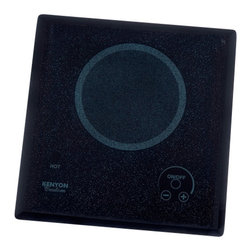 "Kenyon - Lite-Touch Q Outdoor Single Burner Cooktop, 120V UL - Single burner waterproof electric cooktop. Simply touch the digital ""ON/OFF"" circle to turn on and the intuitive (+) (-) buttons control heat settings to ensure a great cooking experience every time. 120V, 1200W element."