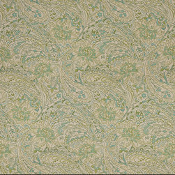 Green Blue and Beige Paisley Indoor Outdoor Marine Upholstery Fabric By The Yard - This fabric will exceed at least 35,000 double rubs (15,000 is considered heavy duty), and is easy to clean and maintain. In addition, this product is stain, water, mildew, bacteria and fade resistant. For superior quality and performance, this fabric is woven and solution dyed.