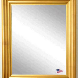 Rayne Mirrors - USA Made Vintage Gold Wall Mirror - A dazzling frame in antique gold finish gives this wall mirror the look of a hand-carved piece. Itsversatilewaved design compliments both casual and formal style rooms.  Rayne's American Made standard of quality includes; metal reinforced frame corner  support, both vertical and horizontal hanging hardware installed and a manufacturers warranty.