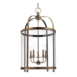 Hudson Valley Lighting - Hudson Valley Lighting 7820-AGB Pendant Light in Aged Brass - Hudson Valley Lighting 7820-AGB Larchmont Collection Modern Pendant Light in Aged Brass