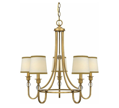 Traditional Gold And Fabric Shades Chandelier -