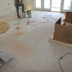 Residential new construction - Beverly Hills - Second floor existing plywood substrate