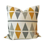 """Argyle Ikat Triangle Pillow Cover - Heavy Knit Geometric - Throw pillow cover, fits one 18"""" x 18"""" throw pillow."""