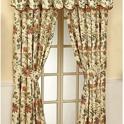 Waverly - Waverly Felicite Curtain Panel - 10982050X084CRE - Shop for Curtains and Drapes from Hayneedle.com! About WaverlyWaverly launched in 1923 and grew to be a premier home fashion and all-encompassing lifestyle brand. They're now one of the most recognized names in home furnishings. With a signature look that's expertly translated into countless classic styles among home furnishing products their assortment includes wall coverings paint bedding window treatments decorative accessories and other key products.