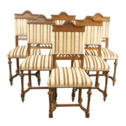 EuroLux Home - Consigned Antique French Dining Chair Set of 6 - Product Details