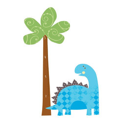 York Wallcoverings - Babysaurus Growth Chart Dinosaur Large Wall Accent Set - Features: