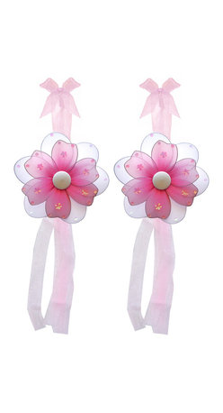 "Bugs-n-Blooms - Flower Tie Backs Dark Pink Multi-Layered Flowers Tieback Pair Set Decor - Window Curtains Holder Holders Tie Backs to Decorate for a Baby Nursery Bedroom, Girls Room Wall Decor - 5"" Diameter Pink & White Multi Layered Curtain Tieback Set Daisy Flower 2pc Pair - Beautiful window curtains tie backs for kids room decor, baby decoration, childrens decorations. Ideal for Baby Nursery Kids Bedroom Girls Room.  This gorgeous daisy flower tieback set has mutli layered petals, sequins, and glitter. This pretty daisy flower decoration is made with a soft bendable wire frame & have color match trails of organza ribbons. Has 2 thick color matched organza ribbons to wrap around the curtains. Visit our store for more great items. Additional styles are available in various colors, please see store for details. Please visit our store on 'How To Hang' for tips and suggestions. Please note: Sizes are approximate and are handmade and variances may occur. Price is for one pair (2 piece)"