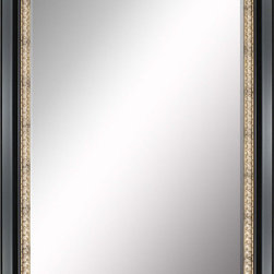 Paragon Decor - Beveled Mirror, Black with Gold Inlay, 30x40 - Mirror, Mirror, on the wall, who's the most beautiful mirror of them all? Reflect your impeccable taste with this traditional-style mirror, which features a gorgeous black with gold inlay frame and high-quality interior beveled mirror. This piece measures 37 inches wide, 2 inches deep, and 47 inches high.