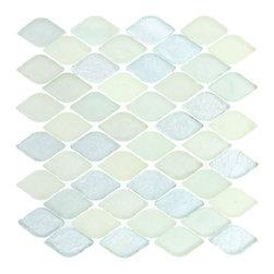 Aquatica glass tile mosaic, Misty Water -