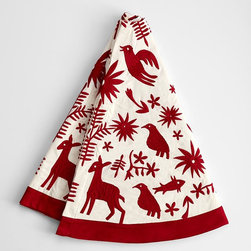 Otomi Christmas Tree Skirt - Here's a cool Otomi tree skirt!