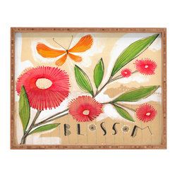DENY Designs - Cori Dantini Blossom 1 Rectangular Tray - With DENY's multifunctional rectangular tray collection, you can use it for decoration in just about any room of the house or go the traditional route to serve cocktails. Either way, you��_��__ll be the ever so stylish hostess with the mostess!