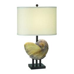 Pacific Coast Lighting - Pacific Coast Lighting 87-1241-62 Kaanapali Table Lamp - - Pacific Beige Tones Finish