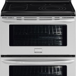 """Frigidaire - FGEF308TNF Gallery Collection 30"""" Freestanding Electric Double Oven Range With S - The Effortless Temperature Probe allows you to set the desired finished temperature and alerts you when that temperature has been reached At that point the oven holds the desired temperature of the meat by moving to a keep warm function for better co..."""