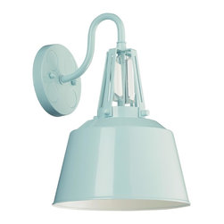 Murray Feiss - Murray Feiss WB1726SHBL Freemont Wall Sconce - Modern Contemporary Wall Sconce in Hi Gloss Blue from the Freemont Collection by Murray Feiss.