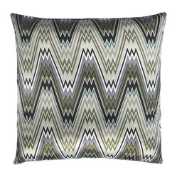 The Big Zigbowski Zigzag Throw Pillow