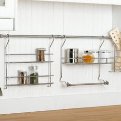 ClosetMaid 3059 Kitchen Organizer Rail System - This simple and flexible design can maximize storage of everyday kitchen utensils and spices.