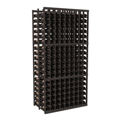 Wine Racks America - 9 Column Double Deep Cellar in Ponderosa Pine, Black - This beautiful and highly efficient 9 column wine rack kit only takes about 3 feet of wall space but holds 36 bottles per column. That is a total of 324 bottles (or 27 cases) in one rack! Double deep storage is ideal for restaurants, bars and private collectors as we stand behind our products and their quality. Those are guarantees.