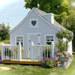 Little Cottage 8 X 10 Gingerbread Wood Playhouse The