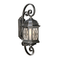 Vaxcel Lighting - Vaxcel Lighting ES-OW51092 Traditional One Light Energy Star Rated Outdoor Wall - Vaxcel Lighting ES-OW51092 Sardinia Traditional One Light Energy Star Outdoor Wall Sconce with Scroll Detail and PhotocellFeatures: