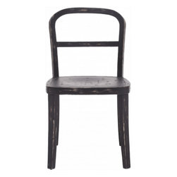 Fillmore Chair - Black - So simple and refined, the Fillmore Chair's curved solid elm frame and smooth seat are perfect for any room: kitchen, dining, breakfast nook, or an office, as guest chairs. Sit down in the low profile and clean lines, it may remind you of your school days. My favorite is the natural finish!