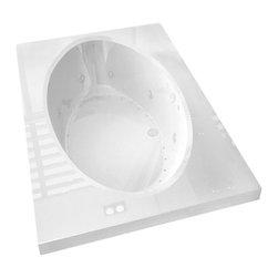 Arista - Rosa 42 x 72 Rect. Air & Whirlpool Drop-In Bathtub w/ Center Drain - Left Pump - DESCRIPTION