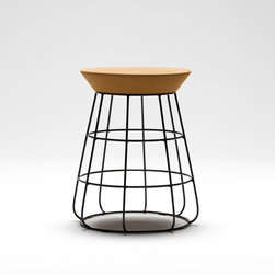 Thanks Sidekick Stool, Pepper - Here's another very cool example of a stool combining cork and metal. The base structure is almost industrial, like something from an old factory, and the lightweight top is made of cork.