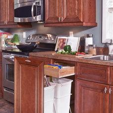 Kitchen Trash Cans by CL Kitchens Bath & Closets