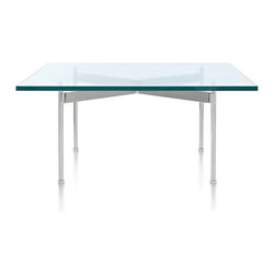 Geiger - Square Claw Table - With its thick glass top and metal base, this table has a modern minimalist sensibility. Group it with other furnishings and it will blend seamlessly. Or, let it take center stage and use it to show off works of art or flower arrangements.
