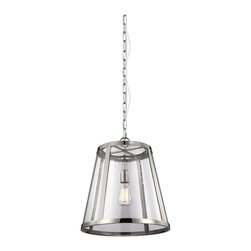Murray Feiss - Murray Feiss Harrow Transitional Pendant Light X-NP9821P - Combining the traditional profile of a tapered shade with on-trend seeded glass, the polished nickel frame and the square-linked chain gives the Harrow Collection an elevated, contemporary yet delicate look. The wall sconce is delivered with two glass options - seeded and opal etched - for the customer's choice to customize.