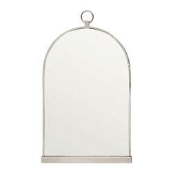 Print - Mirror Paris Modern, Nickel - Polished nickel finish and mirror glass