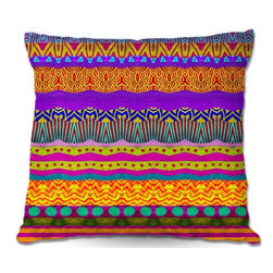 DiaNoche Designs - Pillow Linen - Pom Graphic Designs Earth Layers - Add a little texture and style to your decor with our Woven Linen throw pillows. The material has a smooth boxy weave and each pillow is machine loomed, then printed and sewn in the USA.  100% smooth poly with cushy supportive pillow insert with a hidden zip closure. Dye Sublimation printing adheres the ink to the material for long life and durability. Double Sided Print, machine wash upon arrival for maximum softness. Product may vary slightly from image.