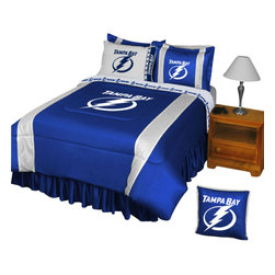 Store51 LLC - NHL Tampa Bay Lightning Comforter Pillowcase Hockey Bedding, Queen - Features: