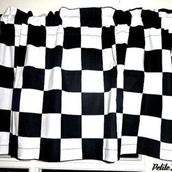Checkered Cars Window Valence by Petite Leon - Reminiscent of a racing flag, this checkered valance adds a little zoom-zoom to the room.