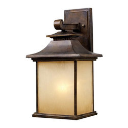 Elk Lighting - Elk Lighting 42181/1 San Gabriel Traditional Outdoor Wall Light - Elk Lighting 42181/1 San Gabriel Traditional Outdoor Wall Light in Hazelnut Bronze