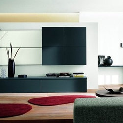 Contemporary Entertainment Center SMA STEP 10 - Made in Italy.