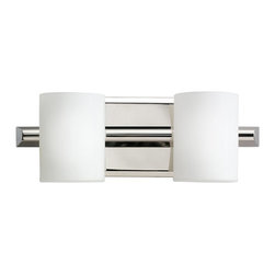 KICHLER - KICHLER Tubes Modern / Contemporary Wall Sconce X-NP6695 - From the Tubes Collection, this Kichler Lighting wall sconce features two elegant and contemporary satin etched white glass cylinder shades set against a clean, Brushed Nickel finish that highlights the straight, clean lines of the piece. U.L. listed for damp locations.