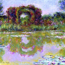 """Claude Oscar Monet Rose Arches at Giverny (also known as The Floral Arch) - 16"""" - 16"""" x 20"""" Claude Oscar Monet Rose Arches at Giverny (also known as The Floral Arch) premium archival print reproduced to meet museum quality standards. Our museum quality archival prints are produced using high-precision print technology for a more accurate reproduction printed on high quality, heavyweight matte presentation paper with fade-resistant, archival inks. Our progressive business model allows us to offer works of art to you at the best wholesale pricing, significantly less than art gallery prices, affordable to all. This line of artwork is produced with extra white border space (if you choose to have it framed, for your framer to work with to frame properly or utilize a larger mat and/or frame).  We present a comprehensive collection of exceptional art reproductions byClaude Oscar Monet."""