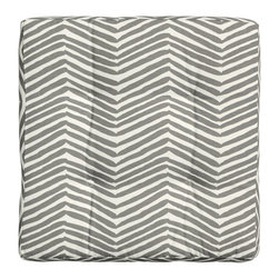 Seat Cushion, Gray - An outdoor seat cushion is an obvious choice to add comfort to your existing outdoor furniture, but it'd also make a cozy seat for a grassy picnic date.