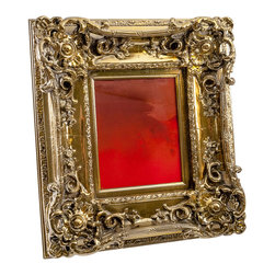 "Art Dallas, Incorporated - Art Dallas Antique Mirror - Red Haze - An Art Dallas handcrafted ""Red Haze"" Antique Mirror framed with our Flash® molding - this one with a gold undercoat."