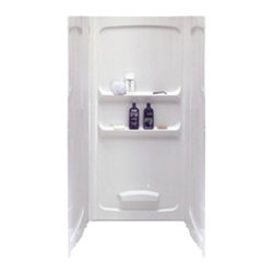 "American Standard - American Standard 3636.Y1SW.020 Acrylux 36 x 36 Shower Wall Set,  White - American Standard 3636.Y1SW.020 Acrylux 36"" x 36"" Shower Wall Set,  White. This wall set features a high-gloss acrylic-capped ABS construction with fiberglass reinforcement, a caulk-less installation with a direct mount to the wall-studs, a pin-and-slot design for easy alignment of side and back panels, full width accessory shelves, and a built-in foot-rest. Each panel measures 36"" wide by 70"" tall."