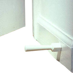KidCo - Soft Jamb Door Stops, 3 Pack - Metal door stops with removable rubber tips bring choking hazards into your home, so replace them with these soft jamb stops. These white door stops are constructed from one piece, and don't utilize any of those pinch-worthy springs. Bar none, these shock-absorbent door stoppers are the best on the market.
